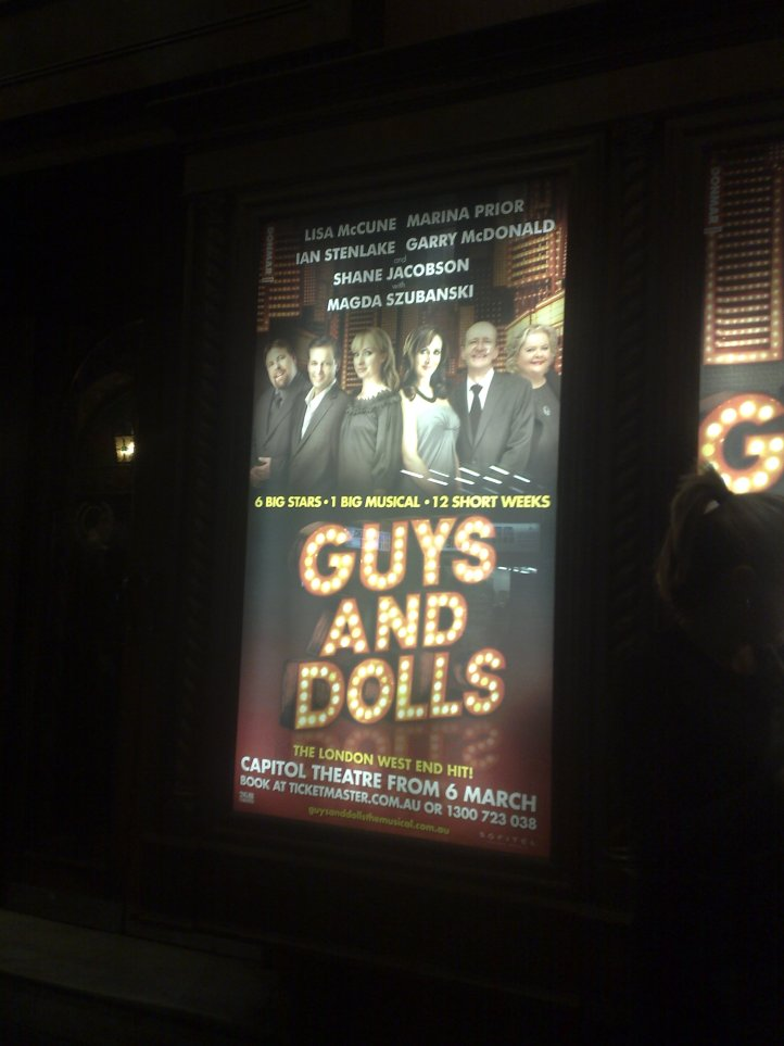 Guys and Dolls at the Capitol Theatre, Sydney.