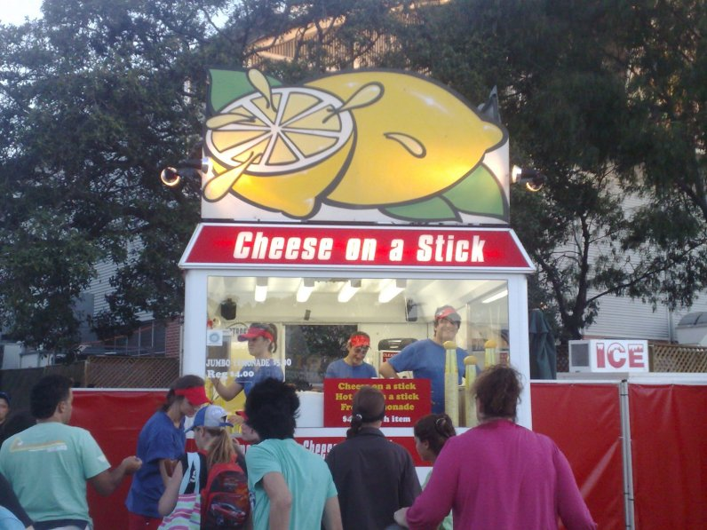 Cheese on a stick at the Royal Easter Show