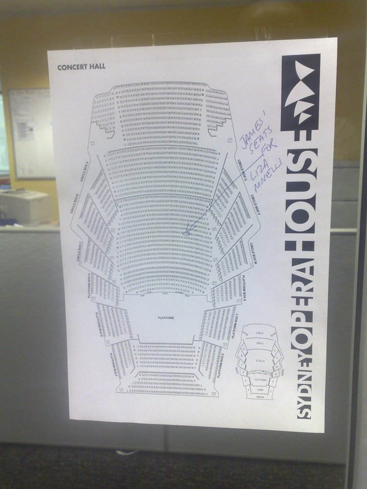 Concert Hall Seating Plan