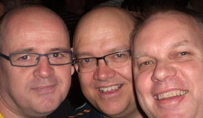 James, Grant and Graeme attending Eurovision 2009