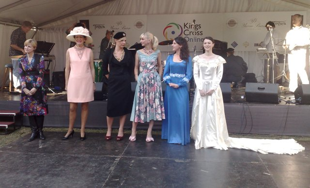 As part of the Kings Cross Festival, a selection of retro dresses from the 40s and 50s.