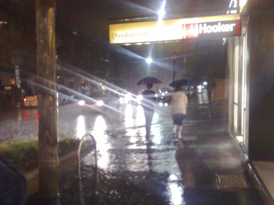 Rainy Night on Crown Street
