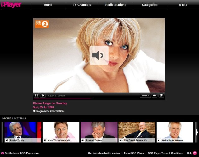 Elaine Paige on BBC Radio 2