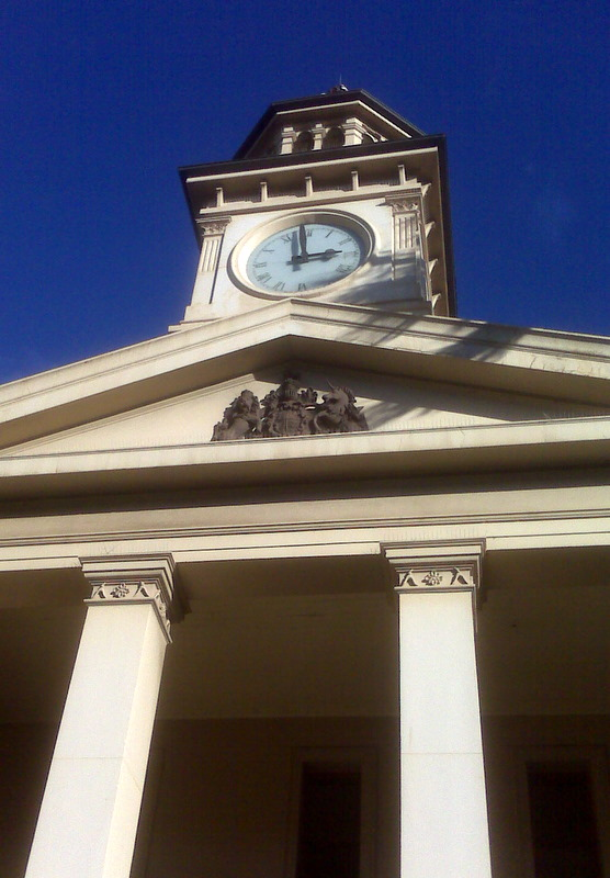Blue skies and the Court House at Wollongong