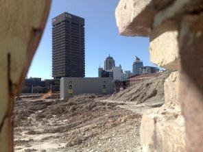 Peeking through the barracades of the Carlton United Re-development