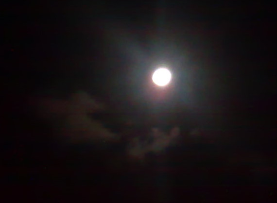 Even if it isn't a full moon, it's pretty close to it, wouldn't you agree?