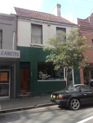 The house in which Kate Leigh was living when she died, located on Devonshire Street, Surry Hills near The Shakespeare and Mohr Fish