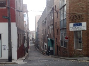 Sophia Street - the street scape has changed little since the 1920s.