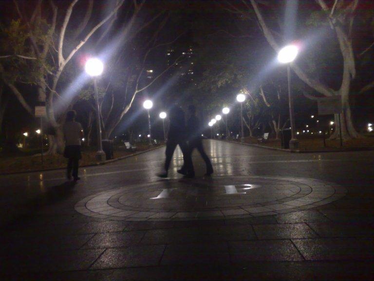 Hyde Park at night