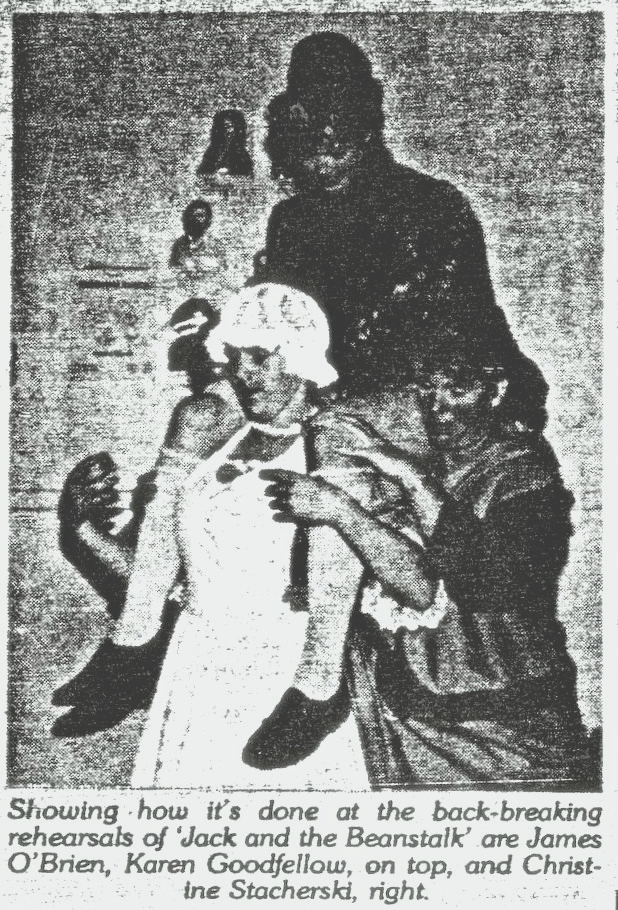 Jack and the Bean Stalk production by Renmark Theatre Group in 1990.