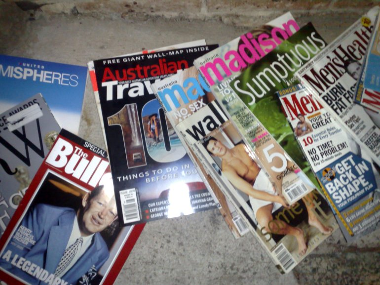Discarded Magazines