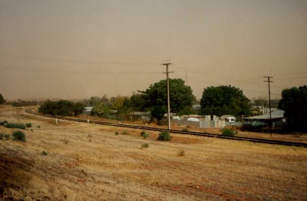 Paringa dust storm in 1990 I think. The view from my front door.
