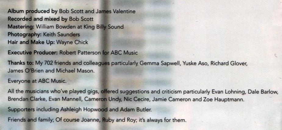 James Valentine Debut CD