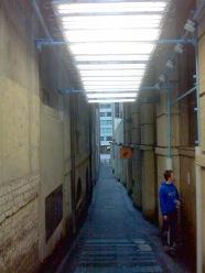 Human Bar Code in Laneways