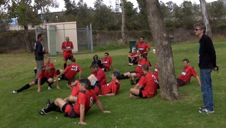 Group therapy before the match