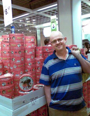 James at IKEA doing Christmas food shopping