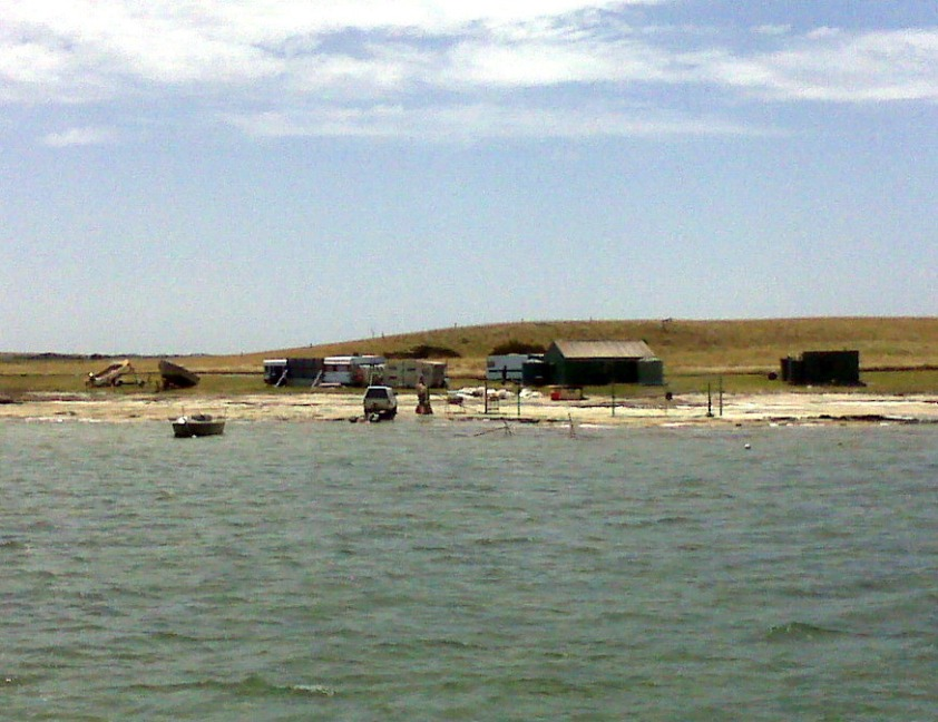 Fishing camp on The Coorong