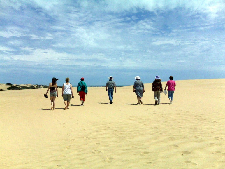 Sand dunes on The Coorong