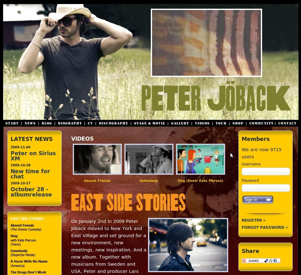 Peter Joback Website