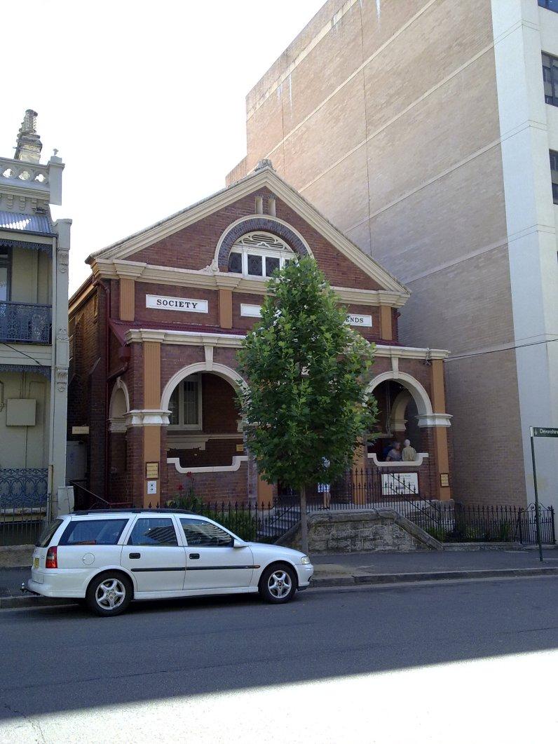 Quaker Meeting Hall, Devonshire Street, Surry Hills