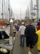 Cruising Yacht Club before the start of the Sydney to Hobart Yacht Race