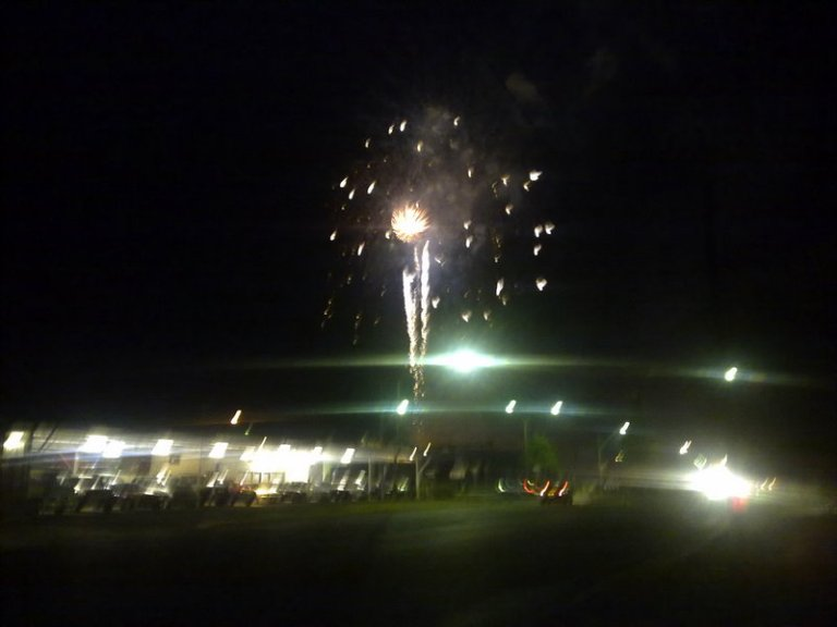 Lismore Fireworks viewed from South Lismore