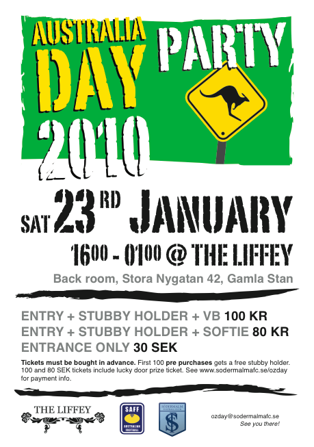 Australia Day Party in Stockholm