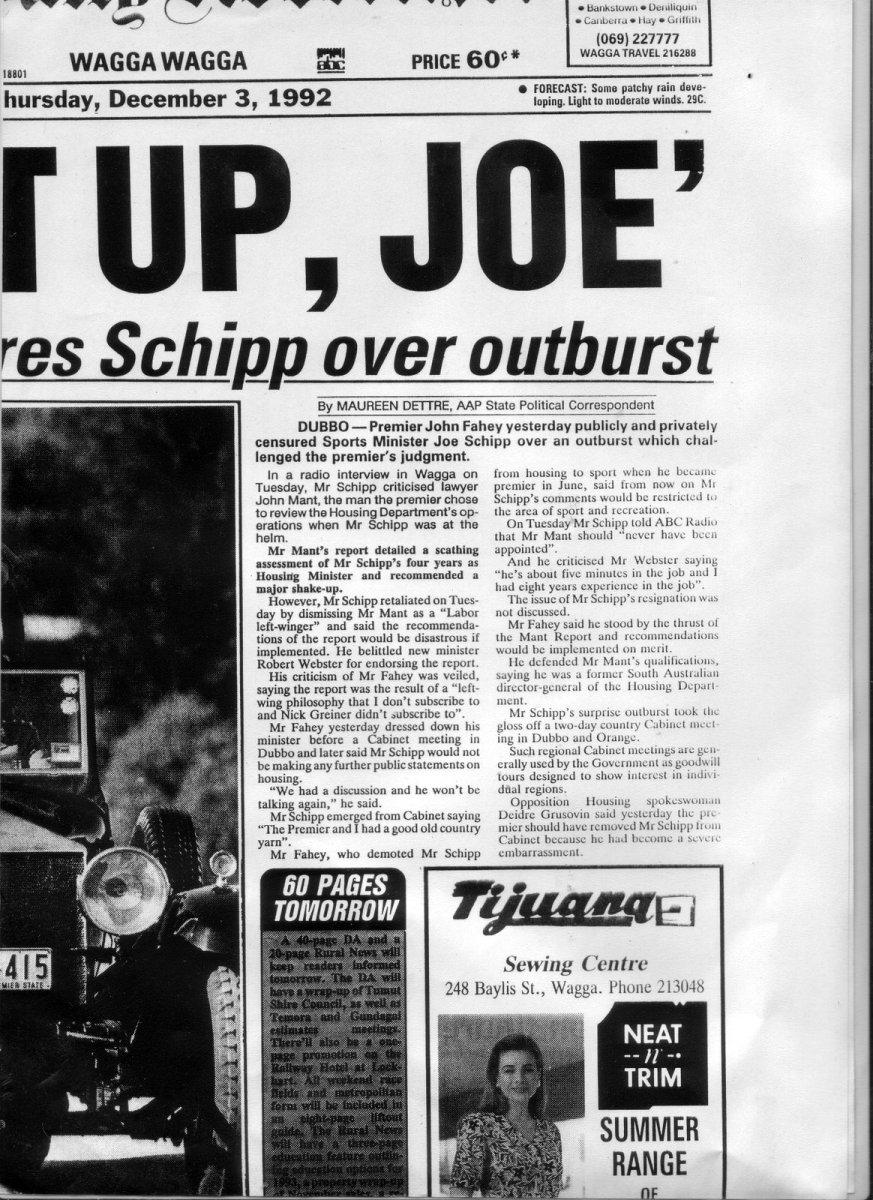 ABC Riverina breaks the Joe Schipp Housing Story
