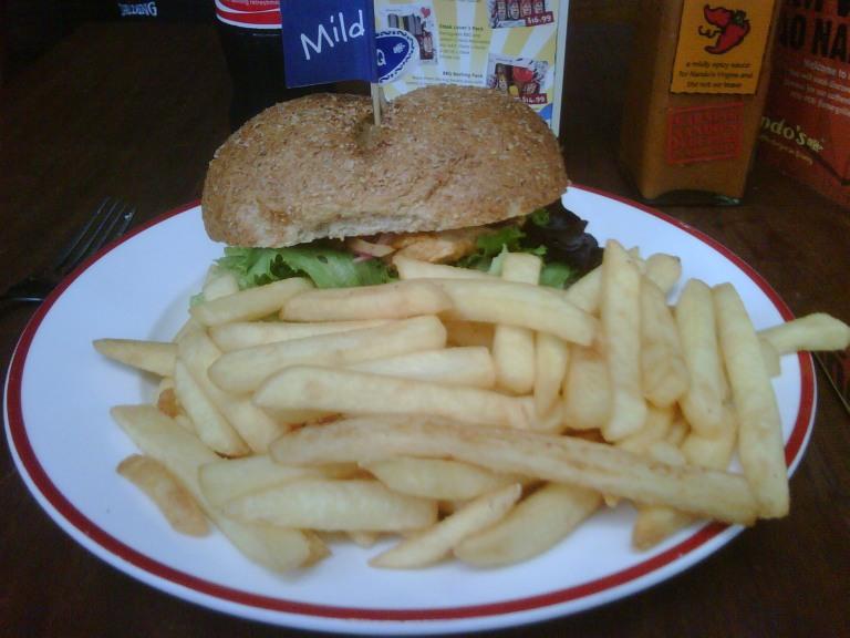 Nandos Burger and Chips