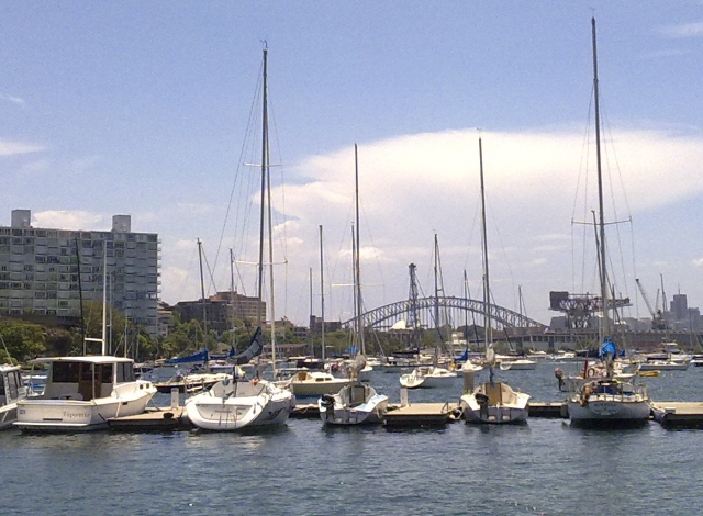 View from near the Cruising Yacht Club at Rushcutters Bay