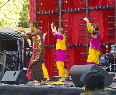 Bollywood Dance instruction at Sydney Festival