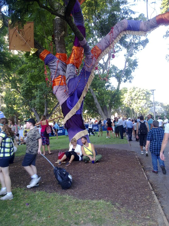 Hyde Park transformation with Sydney Festival