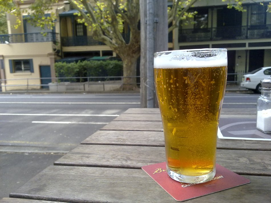 Riley Street beer with the former brothel in the background