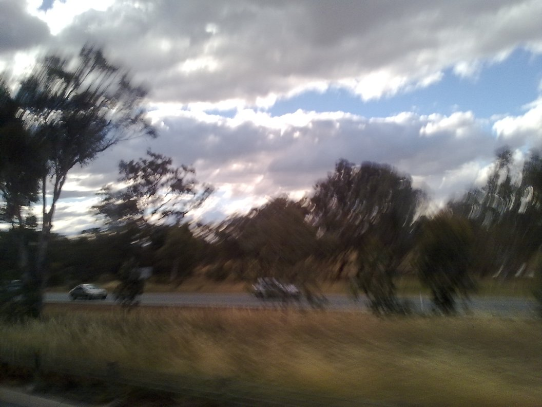Travelling by bus to Canberra