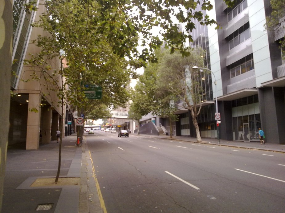 As you can see from this photograph of Harris Street, Sydney remains half-empty or half-full from the summer holidays.