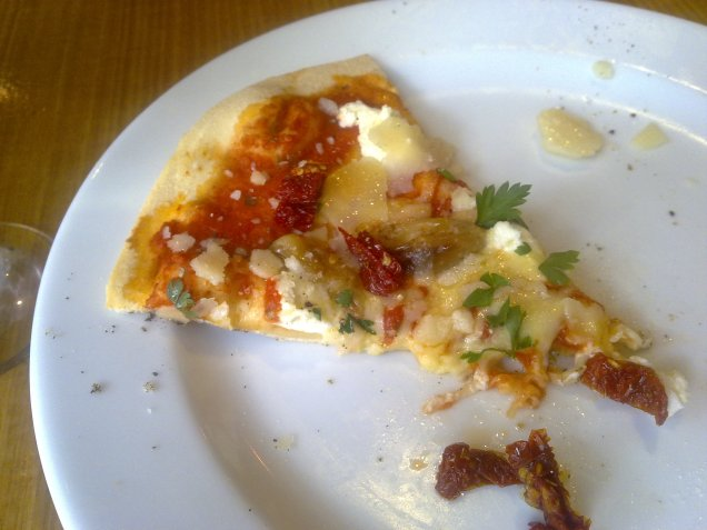 Goats cheese pizza at Wood and Stone, Surry Hills