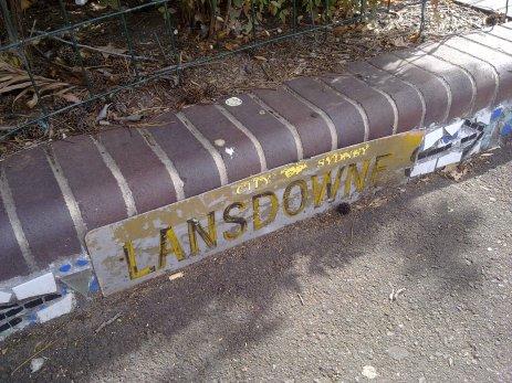 Lansdowne Street sign in Surry Hills