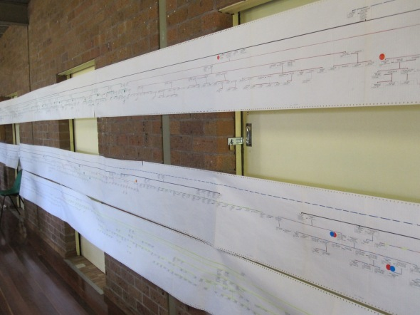 Sheets and sheets of names on paper