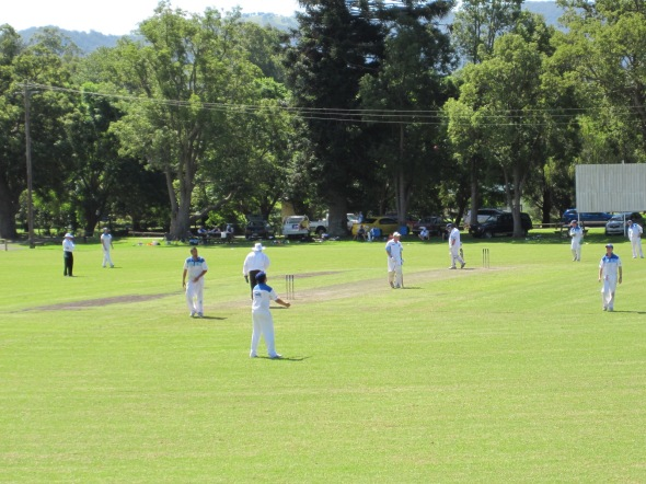 The reunion was at Jamberoo Hall, looking onto a cricket match.