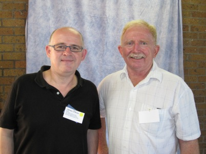 Cousin Barry, reunion organiser, and I