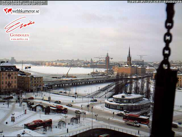 The view of Slussen, thanks to webbkameror.se