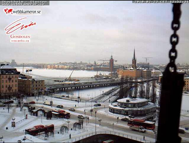 The view of Slussen, thanks to webbkameror.se