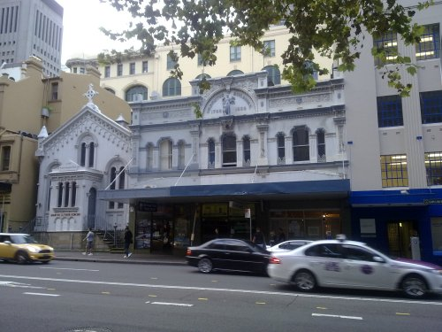 Lutheran Church and Cafe Svensson on Goulburn Street, Sydney