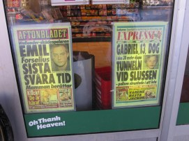 March 5, 2010 - More about Emil Forselius suicide and story of Gabriel in 30 metre deep tunnel at Slussen