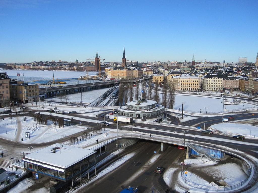 Katarinahissen view of Stockholm