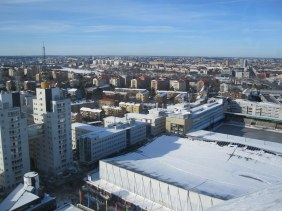 Looking at Stockholm from the top of Globen