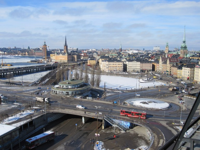 Katarinahissen view this week - the snow is disappearing
