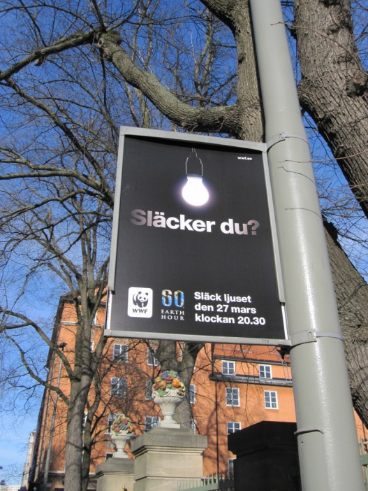 Earth Hour in Stockholm