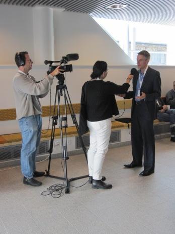 Tim Davie from BBC is interviewed
