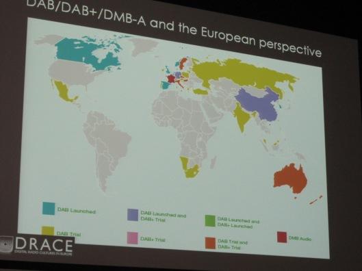 The different digital radio platforms around the world